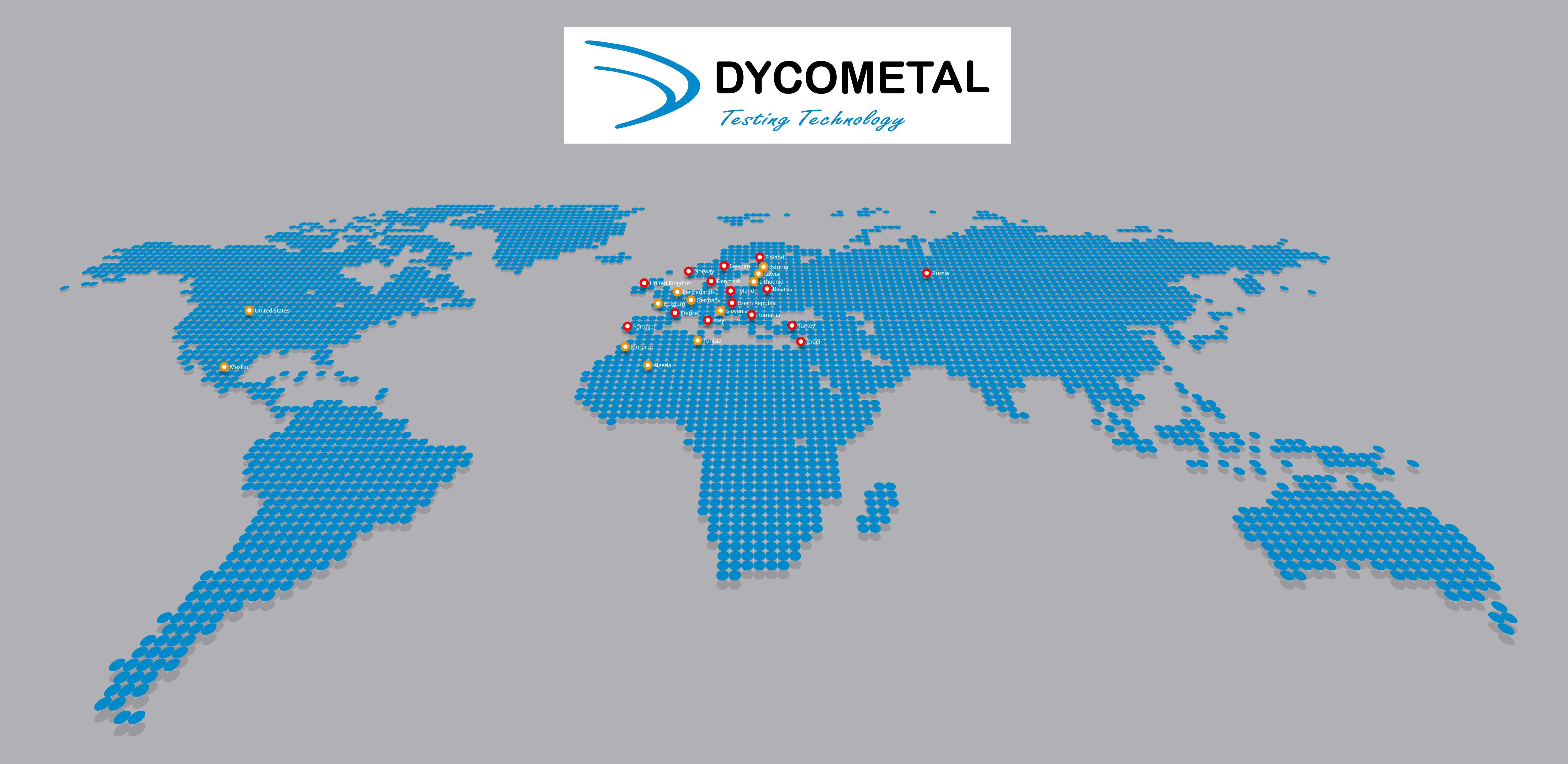 Distribución internacional, red comercial Dycometal